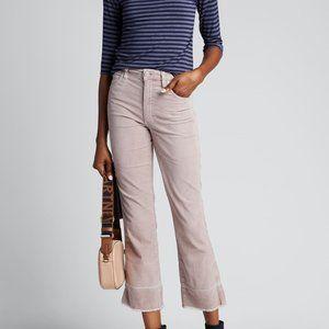 AMO Bella Velveteen High-Rise Boot-Cut Jeans